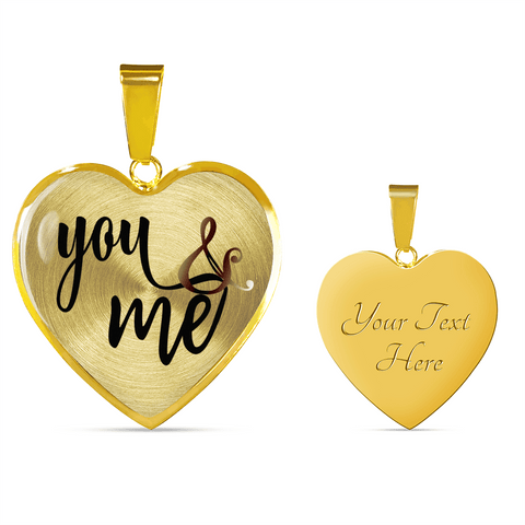 You and Me Heart Necklace - Bracelet - Add Inscription