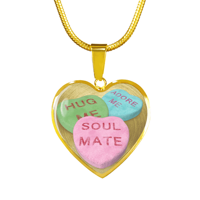 candy hearts necklace gift