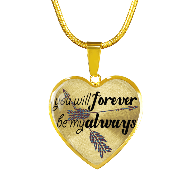 Forever Be My Always Heart Jewelry