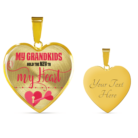 Image of key to my heart grandkids gift