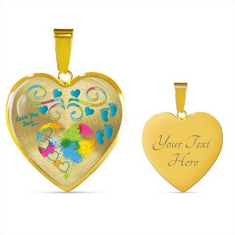 twin baby boys personalized gold heart necklace