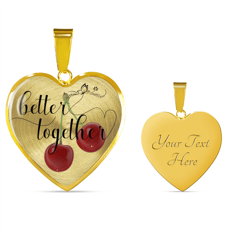Image of Heart Shape Necklace and Bracelet Better Together Valentine - Anniversary Gift
