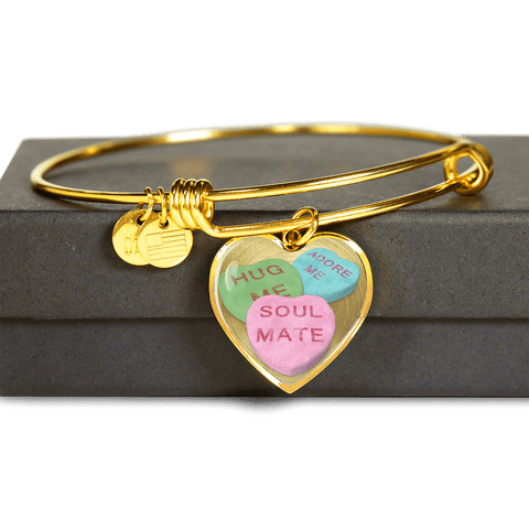 candy hearts gold bracelet gift