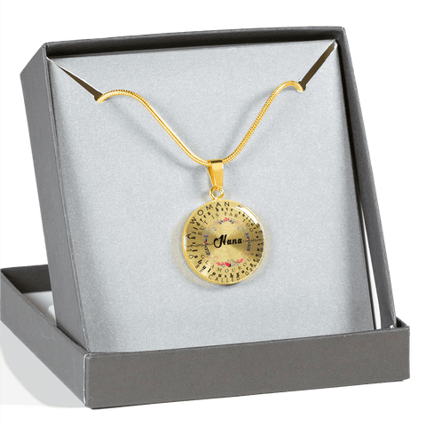 nana necklace gift add inscription gift box