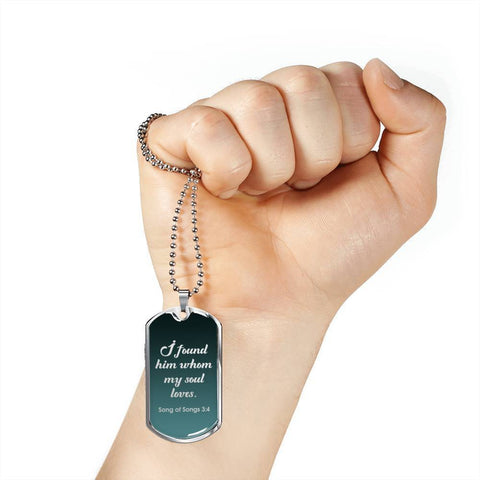 Image of Bible Verse Christian Pendant Husband Boyfriend Gift Add Inscription