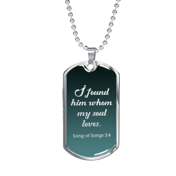 Bible Verse Christian Pendant Husband Boyfriend Gift Add Inscription