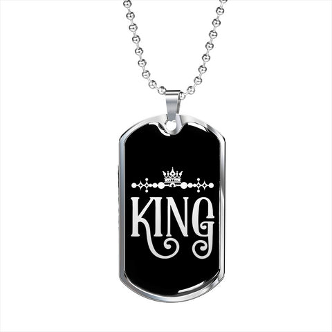 Image of king dog tag personalized pendant