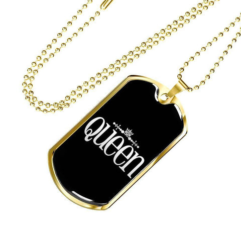 Image of Queen Premium Pendant Add Message