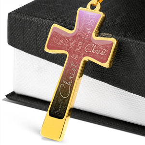 bible quote cross necklace add name