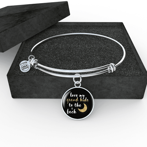 Love My Grandkids to the Moon and Back Bracelet Custom Design