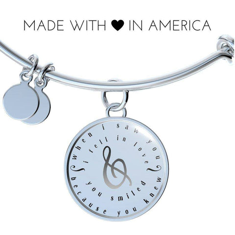 Image of When I Saw You Couples Necklace Bracelet