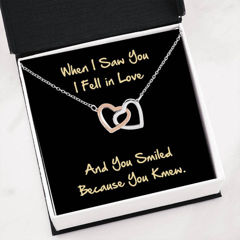 Image of Love Quote Hearts Necklace