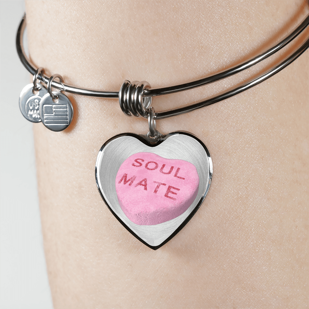 soul mate candy heart bracelet custom design