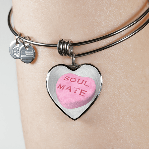 Image of soul mate candy heart bracelet custom design