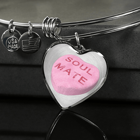 Image of soul mate candy heart bracelet custom design gift box