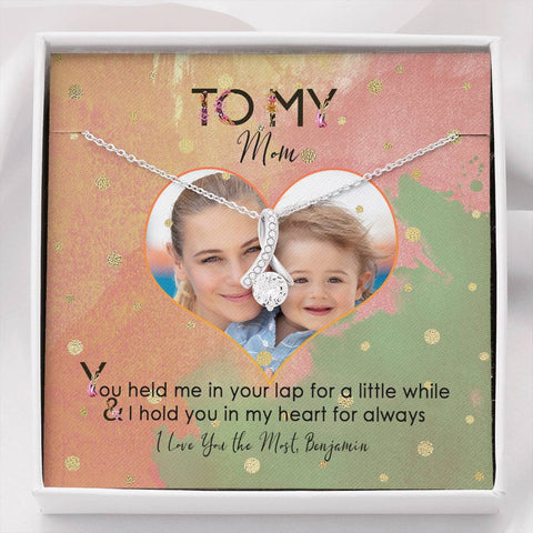 jewelry message card mom valentine gift add photo
