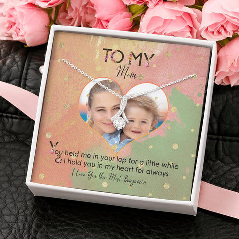 jewelry message card necklace to mom  photo add