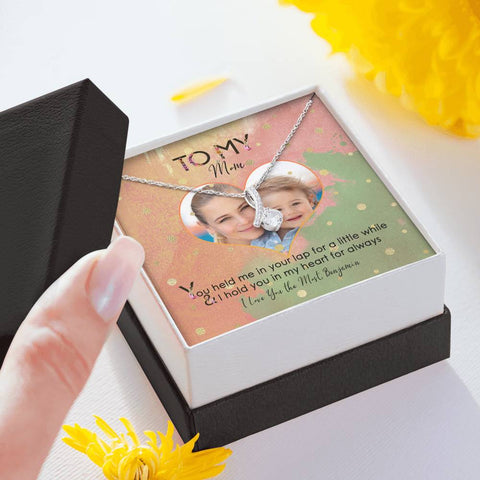 jewelry message card to mother add photo gift box