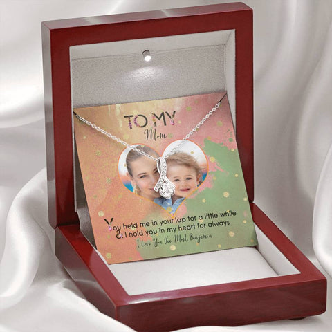 jewelry message card mom gift add photo light-up gift box