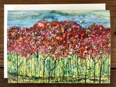 spring forest greeting cards mary elizabeth arts