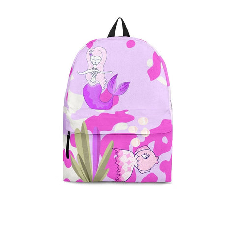 mermaid pink backpack 3 sizes add any name