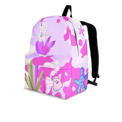 Image of mermaid pink backpack 3 sizes