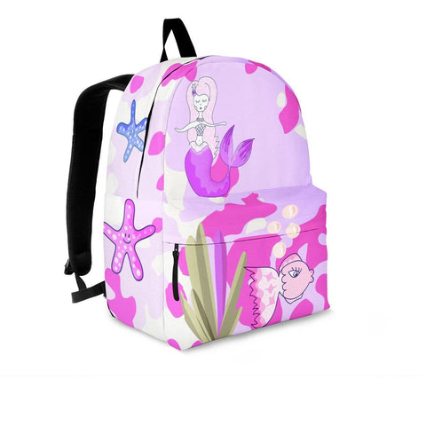 Image of mermaid pink backpack add any name kids sizes too