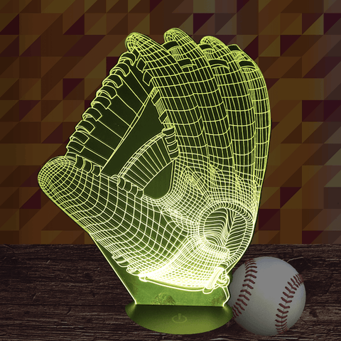 3D LED Lamp Baseball Glove