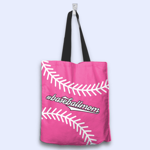 Baseball Mom Pink Tote Bag