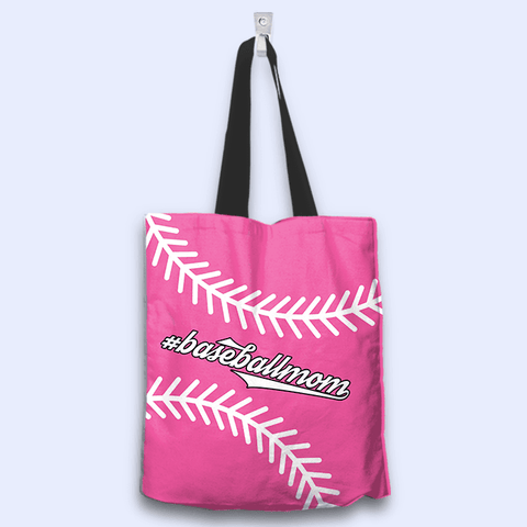 Image of Baseball Mom Pink Tote Bag