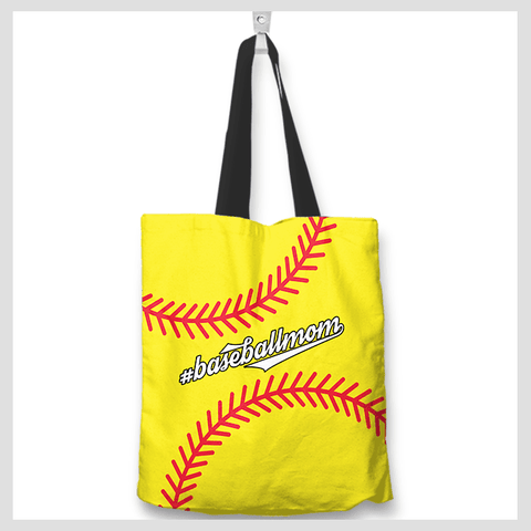 Baseball Mom Yellow Tote Bag