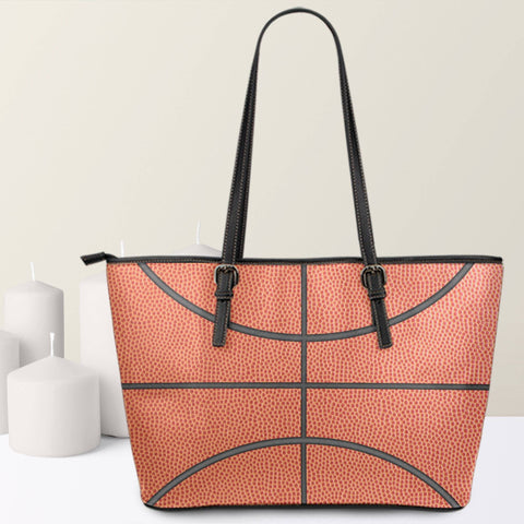 Image of basketball pattern large tote