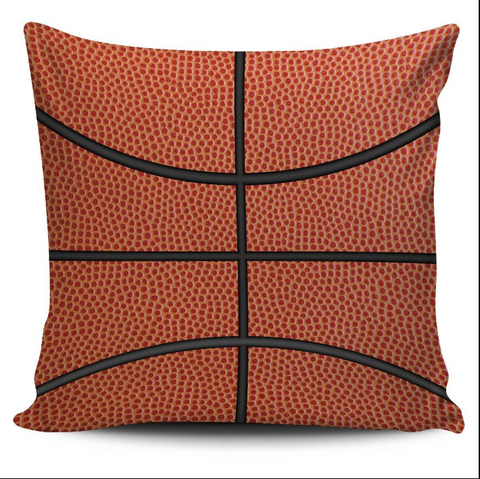 Image of Basketball Faux Suede Square Pillow Case