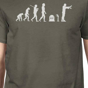 Zombie Evolution Mens Dark Grey Shirt