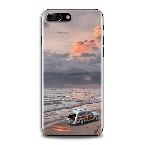Surfboard Beach Scene Mobile Phone Case Cover