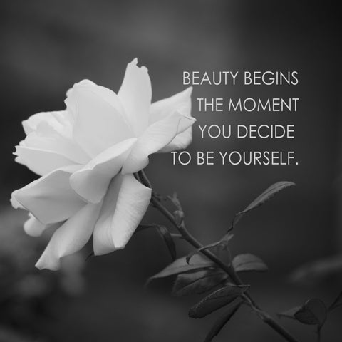 Your Beauty Begins Inspirational Poster
