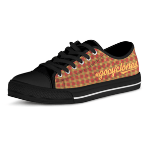 Go Cyclones Iowa State Colors Ladies Low Top Shoes Black or White Sole