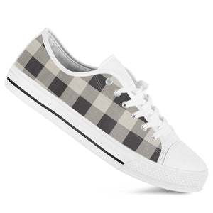 Buffalo Plaid Black White Sneakers Women