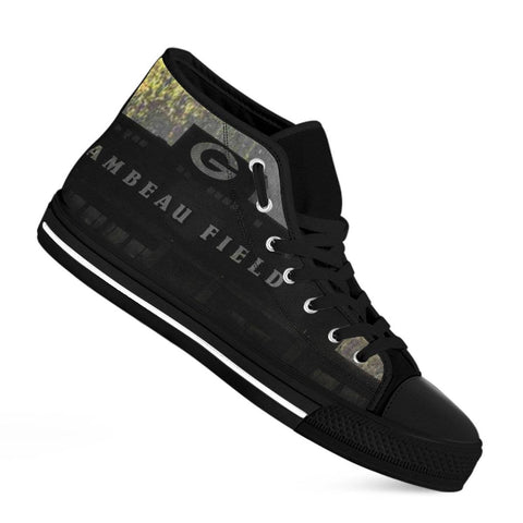 Image of Green Bay Packer Fans Lambeau Grunge Men's High Top Shoes