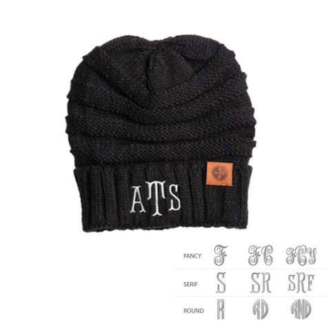 Image of Monogram Adult Knit Beanie Cap