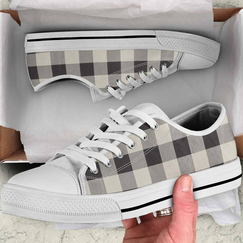 Image of Buffalo Checks Black & White Shoes for Women