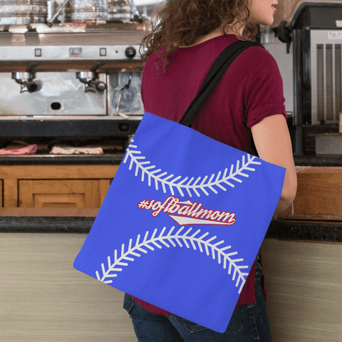 Image of Baseball Mom Blue Tote Bag