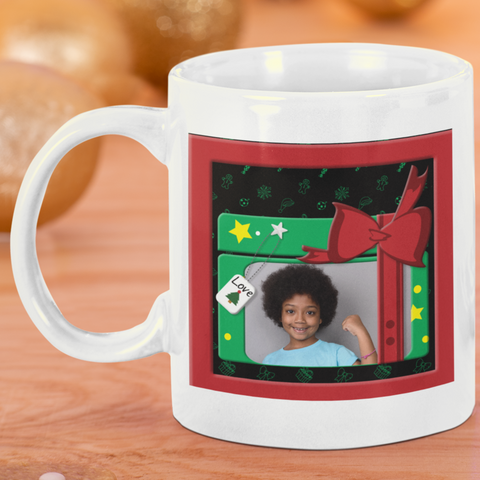 personalized photo mug for christmas