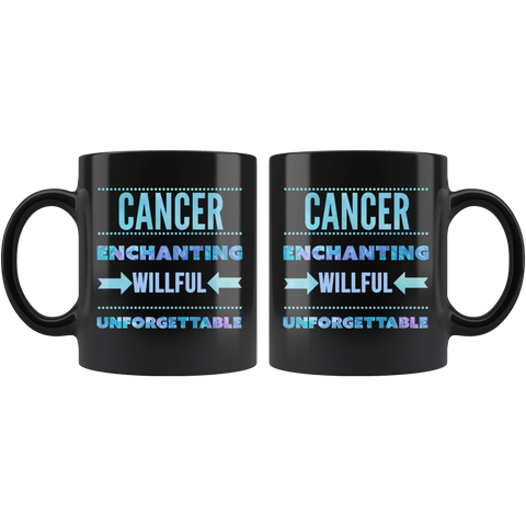 Image of Cancer Astrology Quote Black Mug