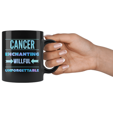 Cancer Astrology Quote Black Mug