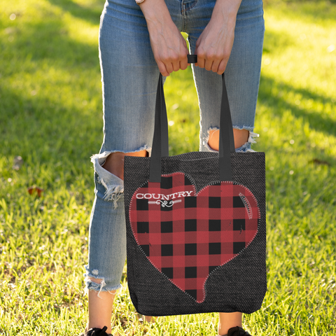 Image of country girl at heart tote bag