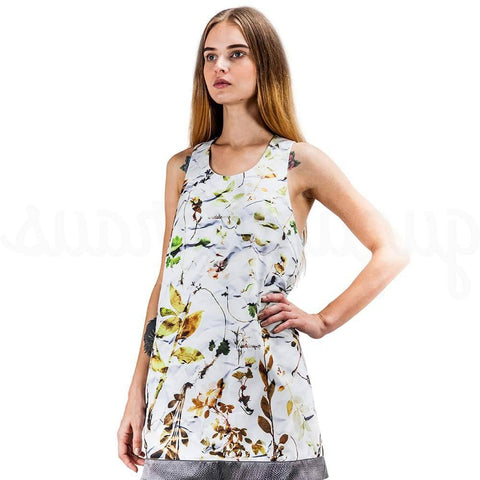 Image of floral sleeveless mini dress