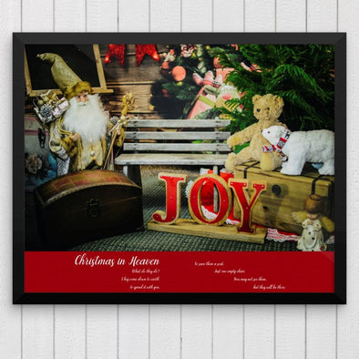 Christmas in Heaven Empty Chair Poem Poster