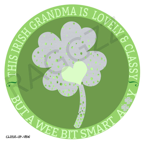 Image of Irish Grandma Tote Bag Artwork Close-Up