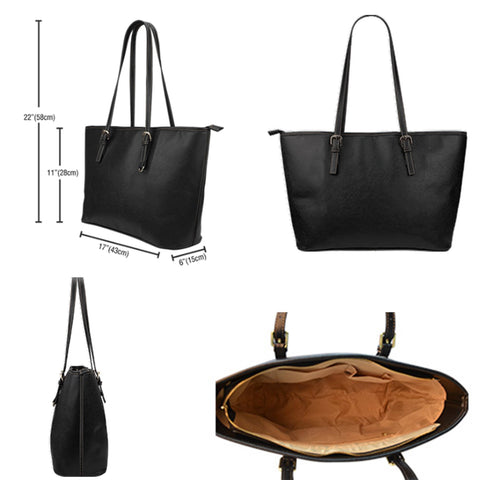 Basketball Pattern Vegan Leather Large Tote